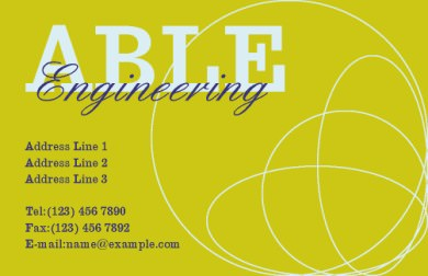 Able Engineering Business Card