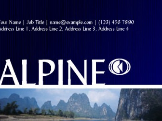 Alpine Business Card