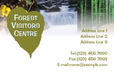 Forest Visitors Centre Business Card